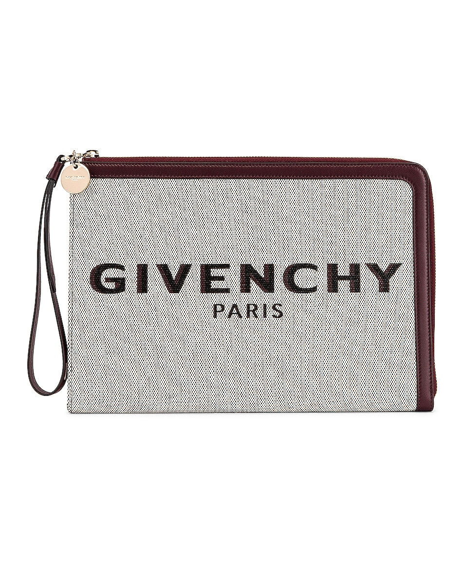 Image 1 of Givenchy Large Bond Pouch in Aubergine