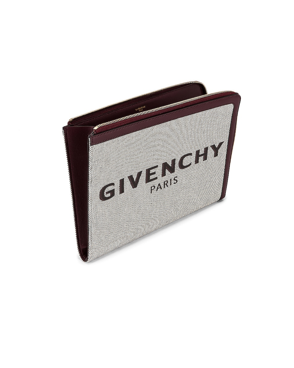 Image 5 of Givenchy Large Bond Pouch in Aubergine