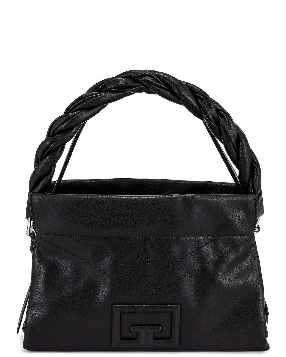 Image 1 of Givenchy Medium ID 93 Twisted Strap Zip Bag in Black