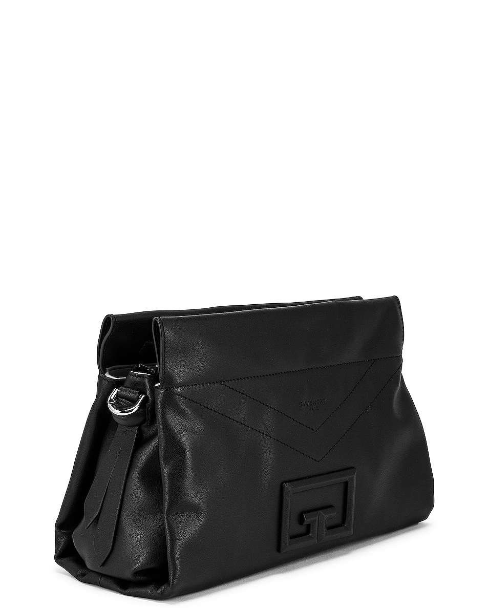 Image 4 of Givenchy Medium ID 93 Twisted Strap Zip Bag in Black