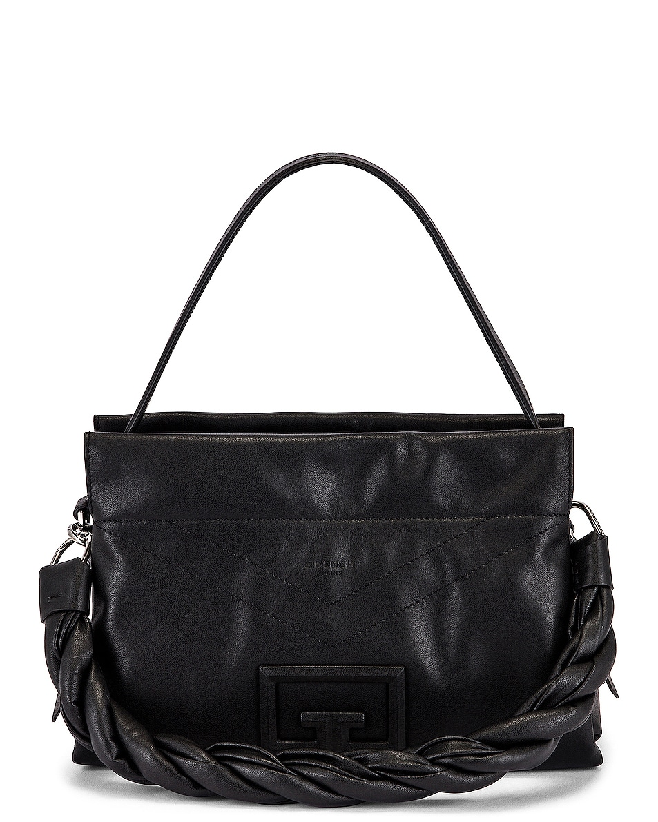 Image 6 of Givenchy Medium ID 93 Twisted Strap Zip Bag in Black