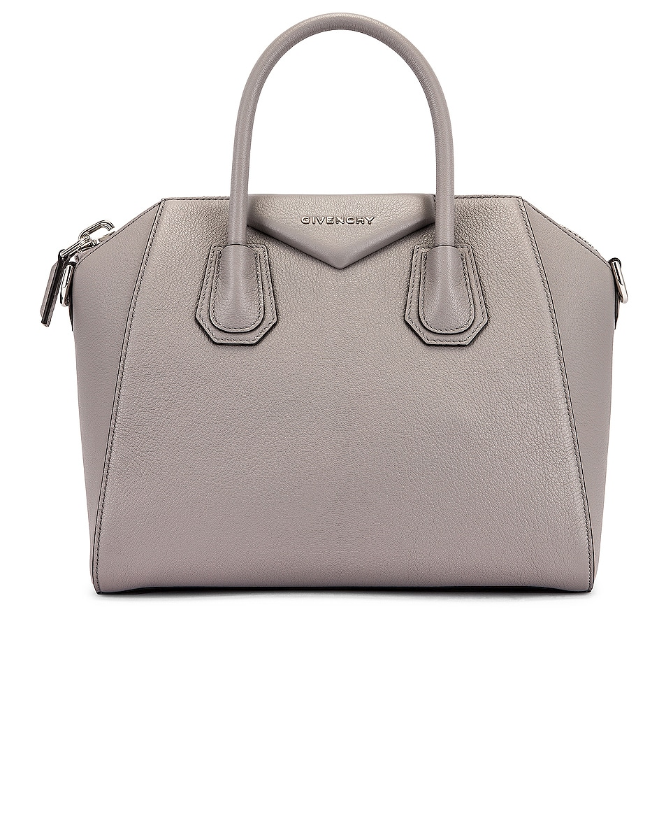 Image 1 of Givenchy Small Antigona Bag in Pearl Grey