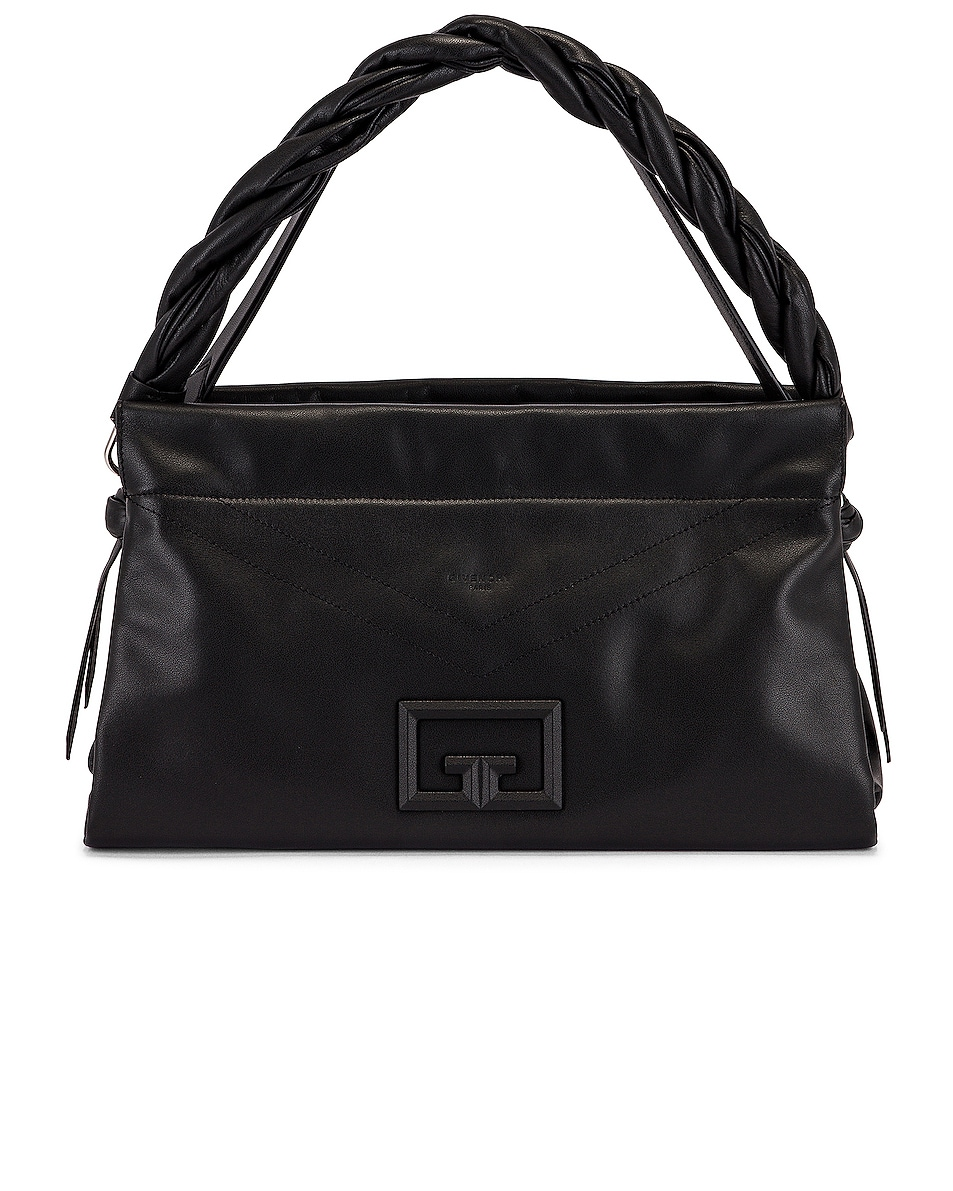 Image 1 of Givenchy Large ID 93 Twisted Strap Zip Bag in Black