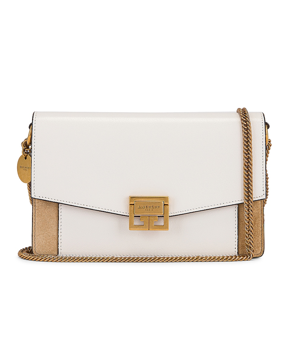 Image 1 of Givenchy GV3 Wallet on Chain Bag in White & Beige