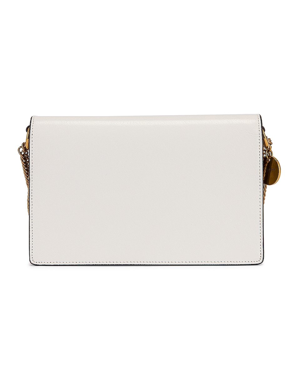 Image 3 of Givenchy GV3 Wallet on Chain Bag in White & Beige