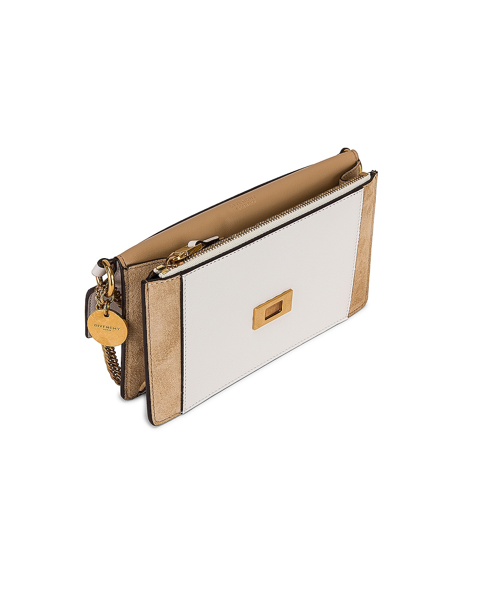 Image 5 of Givenchy GV3 Wallet on Chain Bag in White & Beige