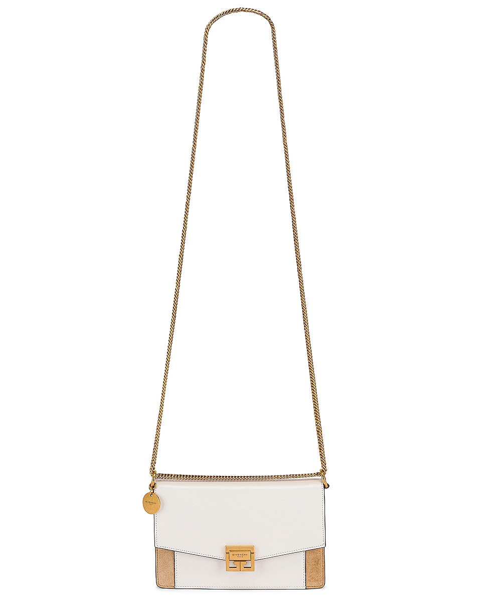 Image 6 of Givenchy GV3 Wallet on Chain Bag in White & Beige