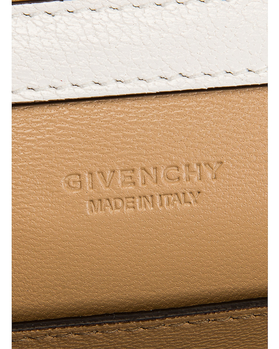 Image 7 of Givenchy GV3 Wallet on Chain Bag in White & Beige