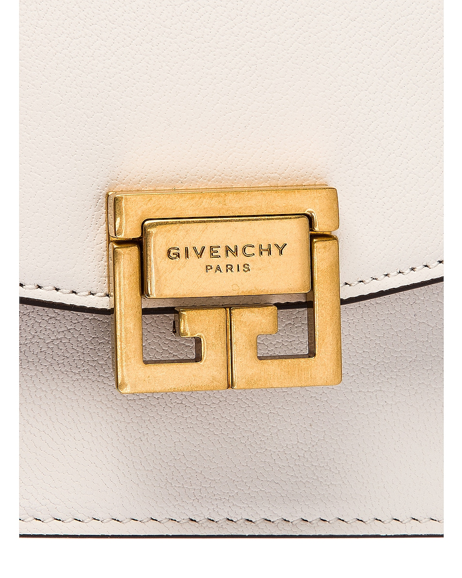 Image 8 of Givenchy GV3 Wallet on Chain Bag in White & Beige