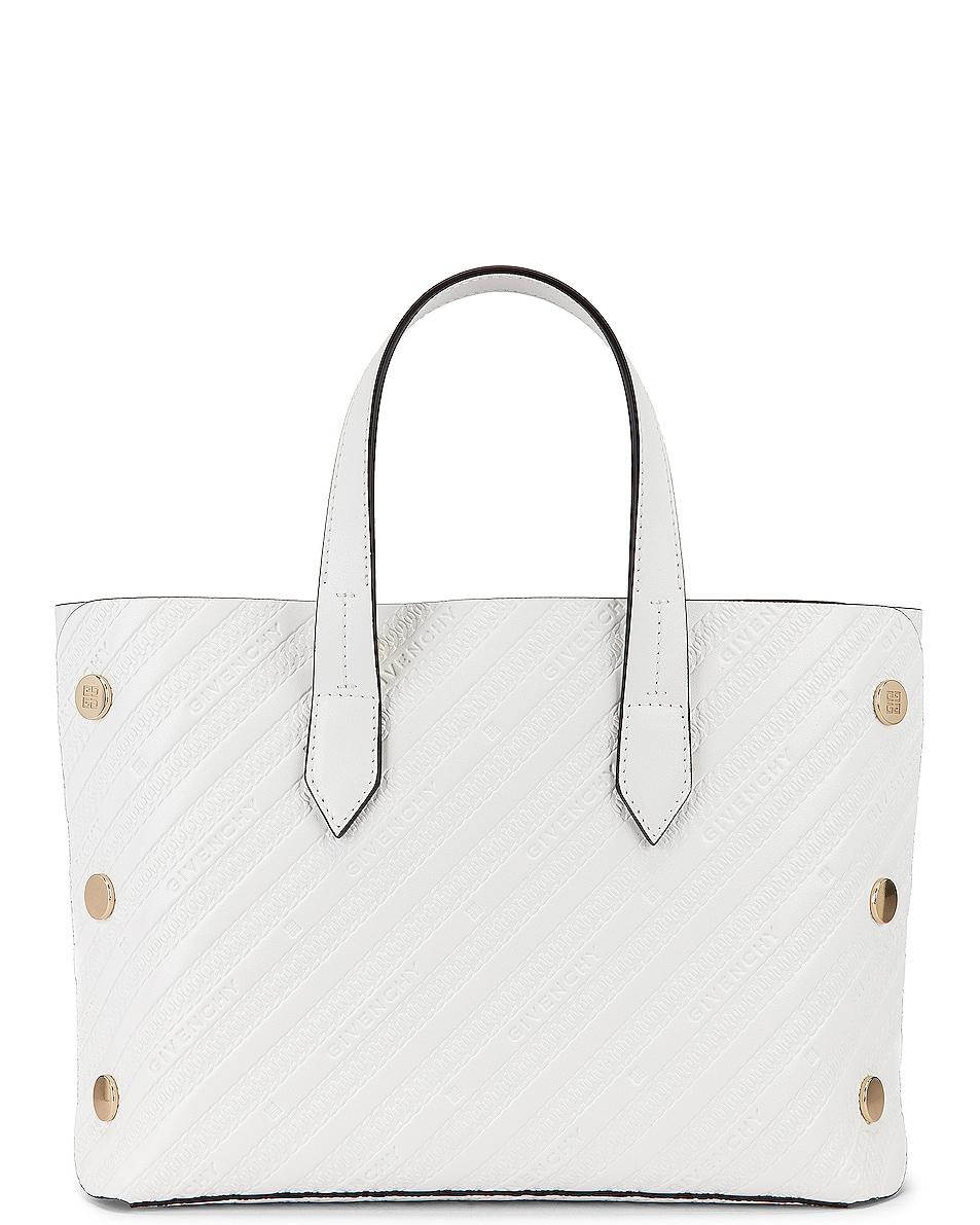 Image 3 of Givenchy Mini Bond Shopping Bag in White