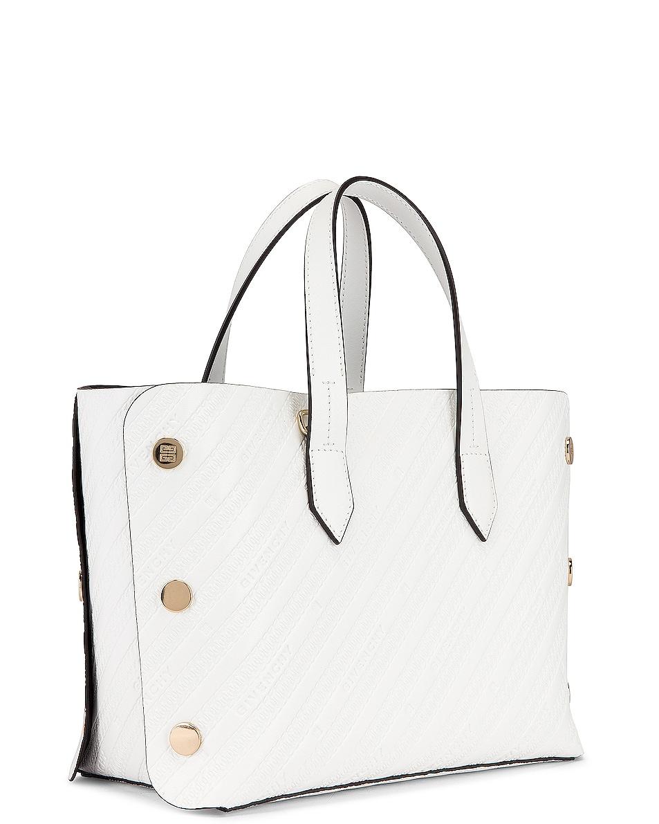 Image 4 of Givenchy Mini Bond Shopping Bag in White