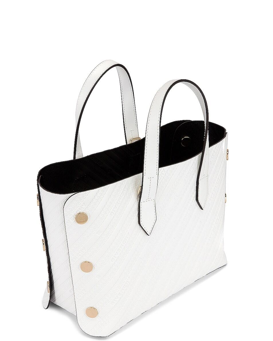 Image 5 of Givenchy Mini Bond Shopping Bag in White