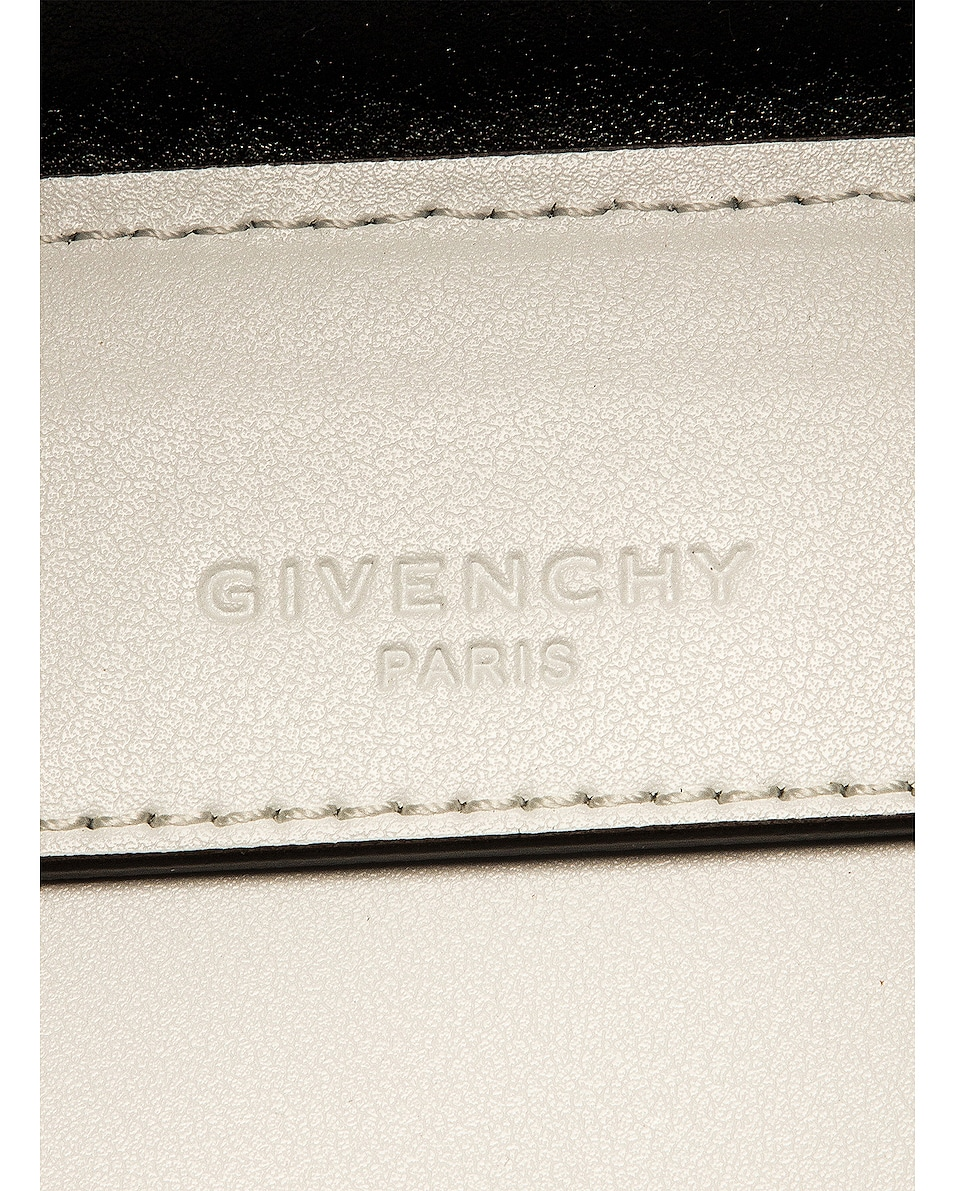 Image 7 of Givenchy Mini Bond Shopping Bag in White