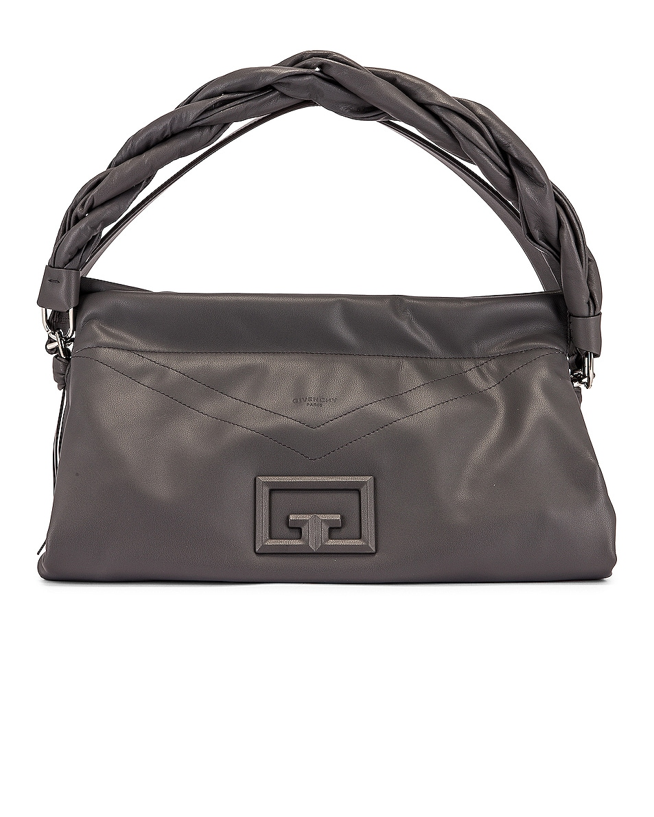 Image 1 of Givenchy Large ID 93 Twisted Strap Zip Bag in Storm Grey