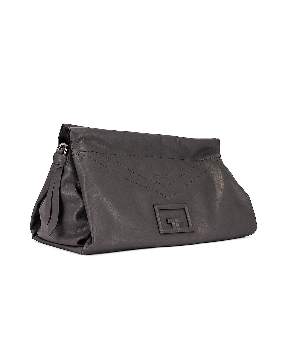 Image 4 of Givenchy Large ID 93 Twisted Strap Zip Bag in Storm Grey