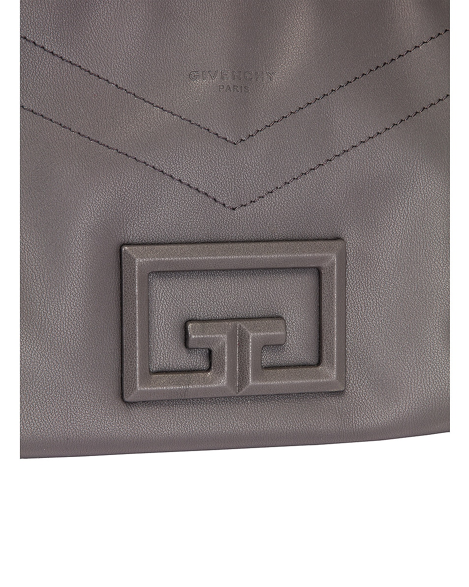 Image 8 of Givenchy Large ID 93 Twisted Strap Zip Bag in Storm Grey