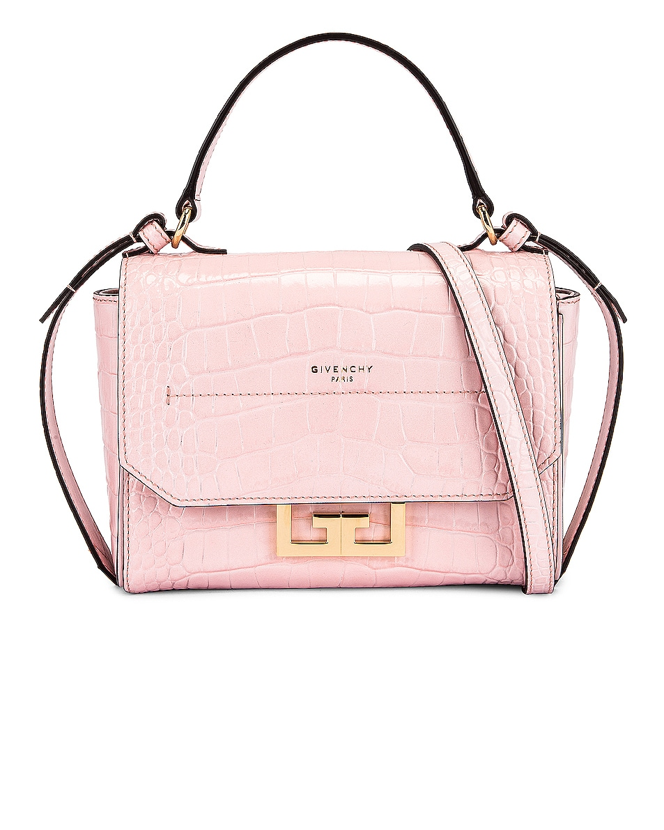 Image 1 of Givenchy Mini Embossed Croc Eden Bag in Pink