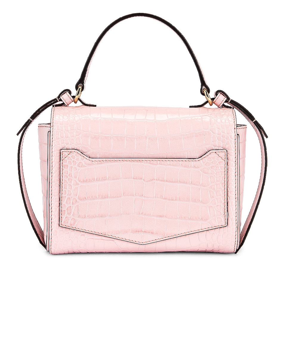 Image 3 of Givenchy Mini Embossed Croc Eden Bag in Pink