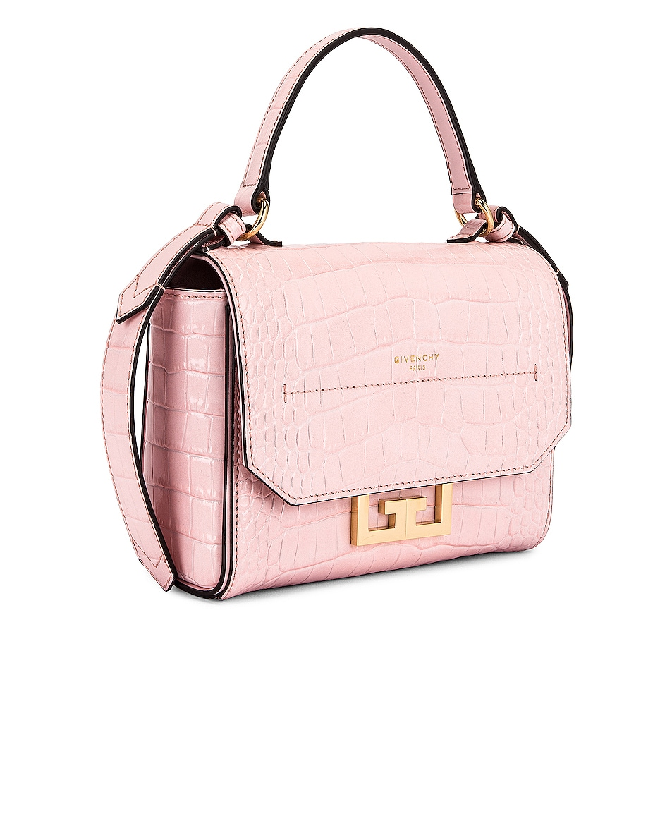 Image 4 of Givenchy Mini Embossed Croc Eden Bag in Pink