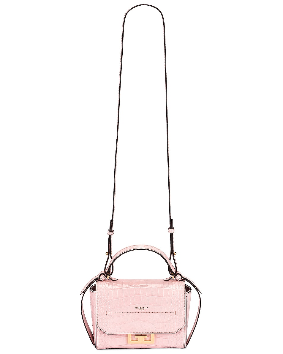 Image 6 of Givenchy Mini Embossed Croc Eden Bag in Pink