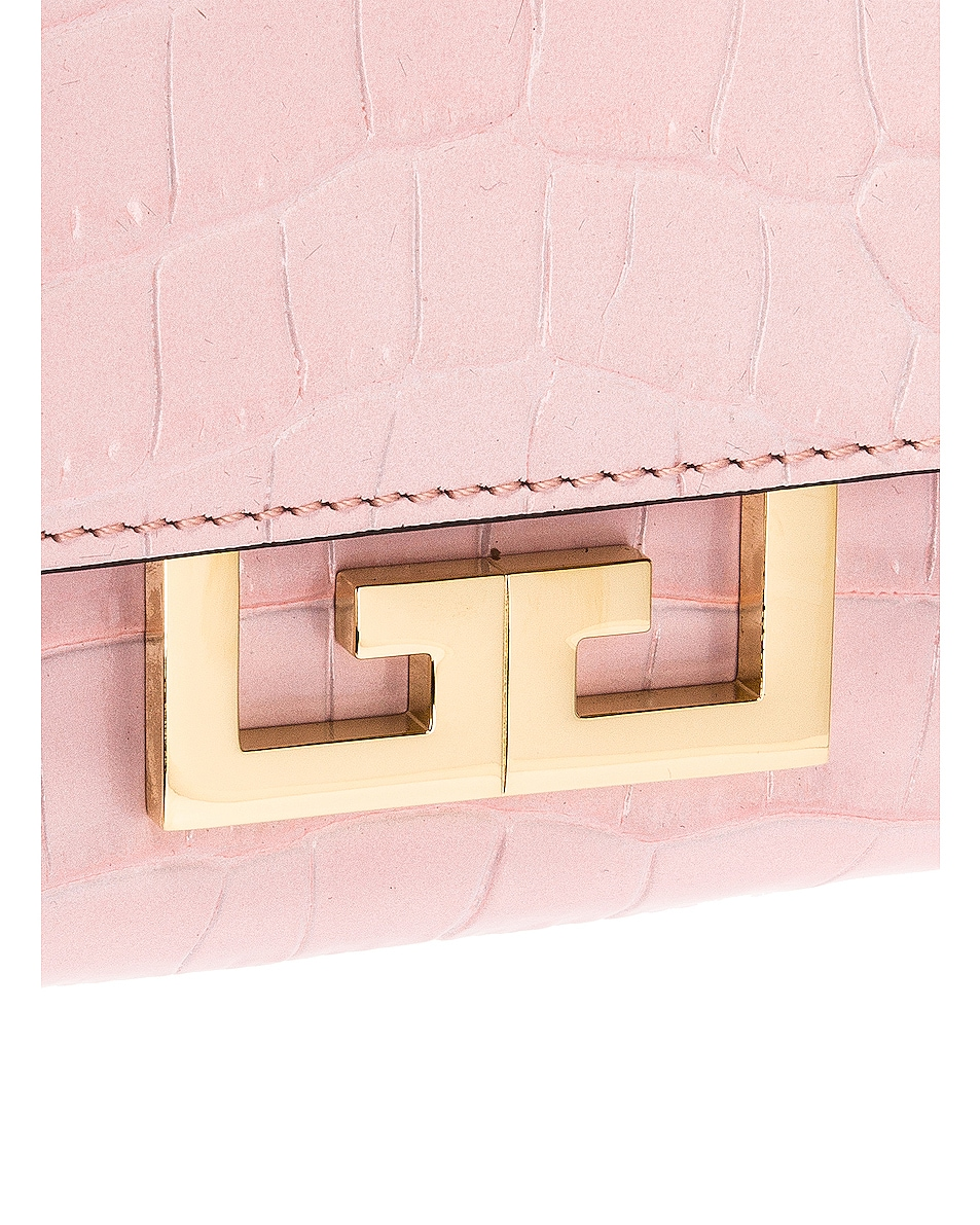Image 8 of Givenchy Mini Embossed Croc Eden Bag in Pink
