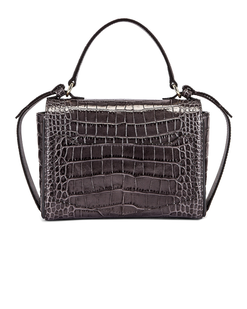 Image 3 of Givenchy Mini Embossed Croc Eden Bag in Storm Grey