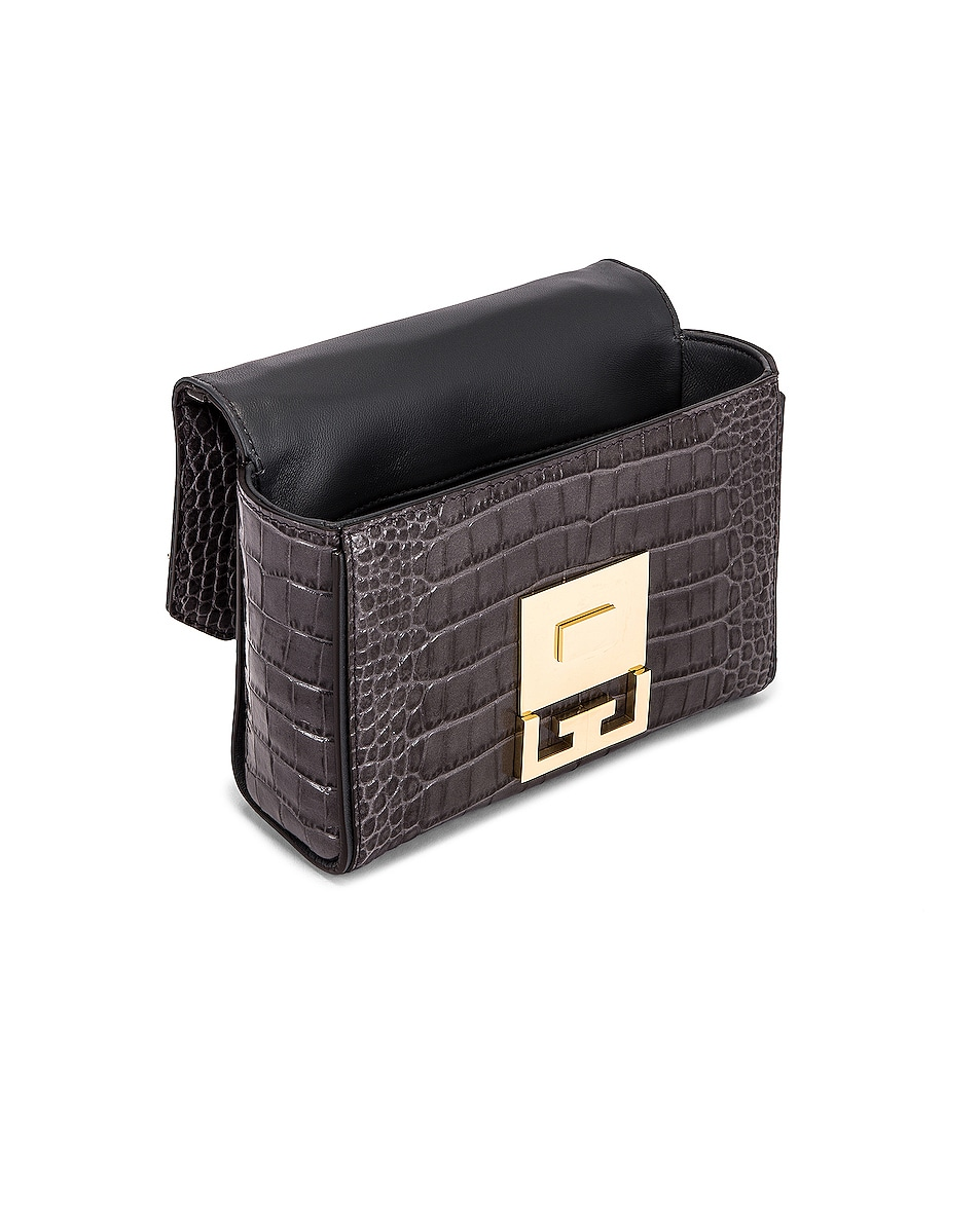 Image 5 of Givenchy Mini Embossed Croc Eden Bag in Storm Grey