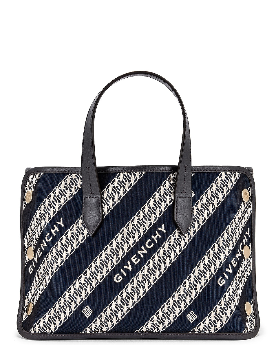 Image 1 of Givenchy Mini Bond Shopping Bag in Oil Blue