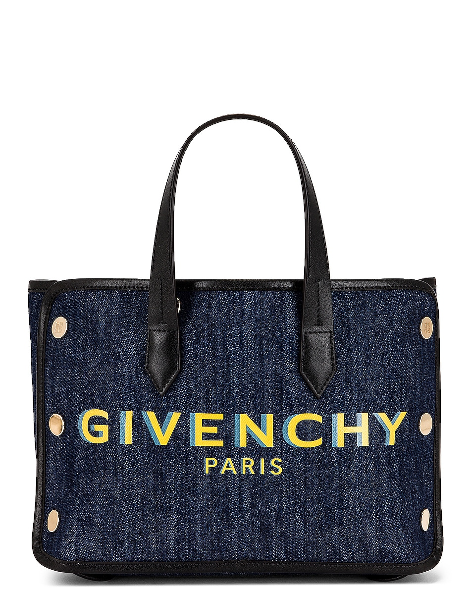Image 1 of Givenchy Mini Bond Shopping Bag in Blue