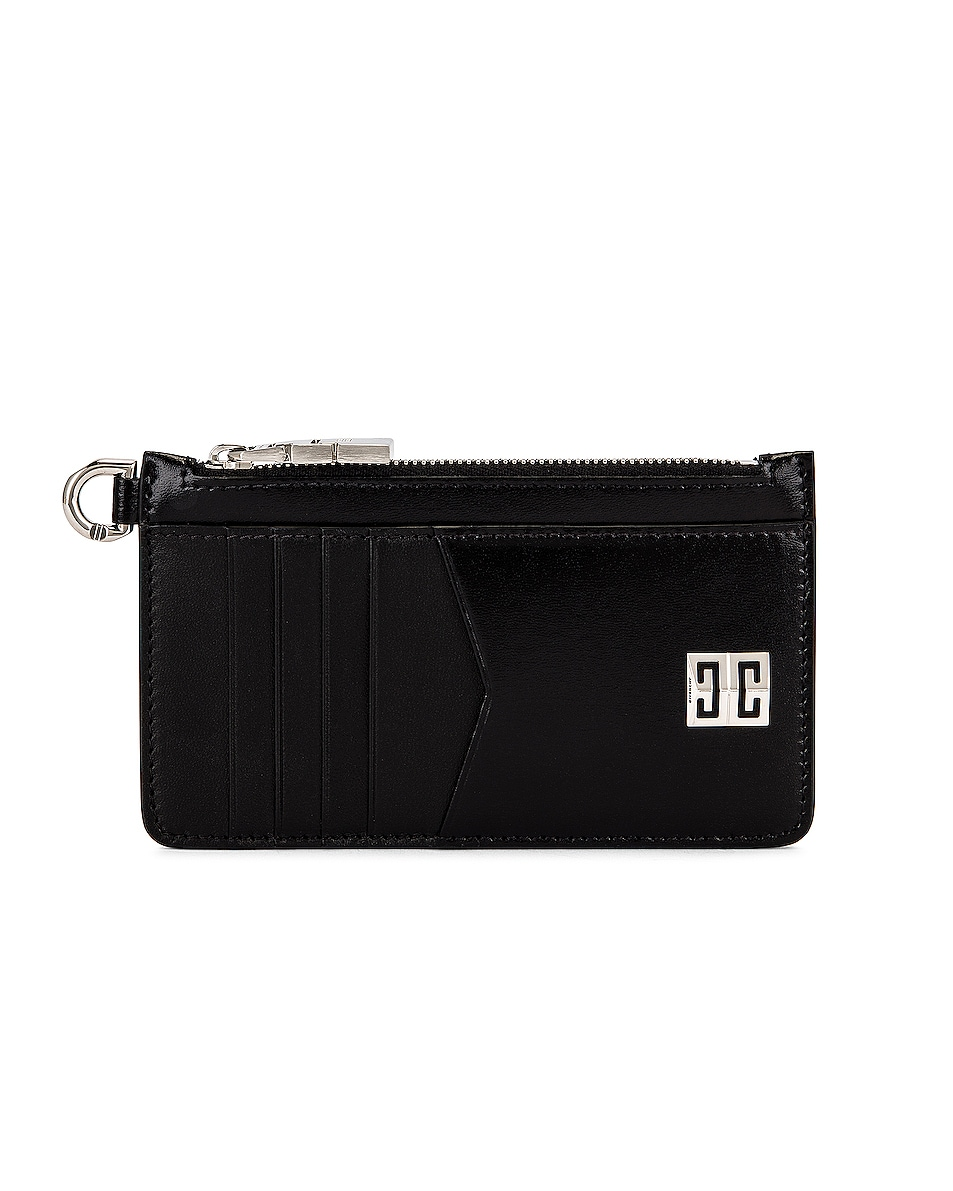 Image 1 of Givenchy 4G Zipped Card Case in Black