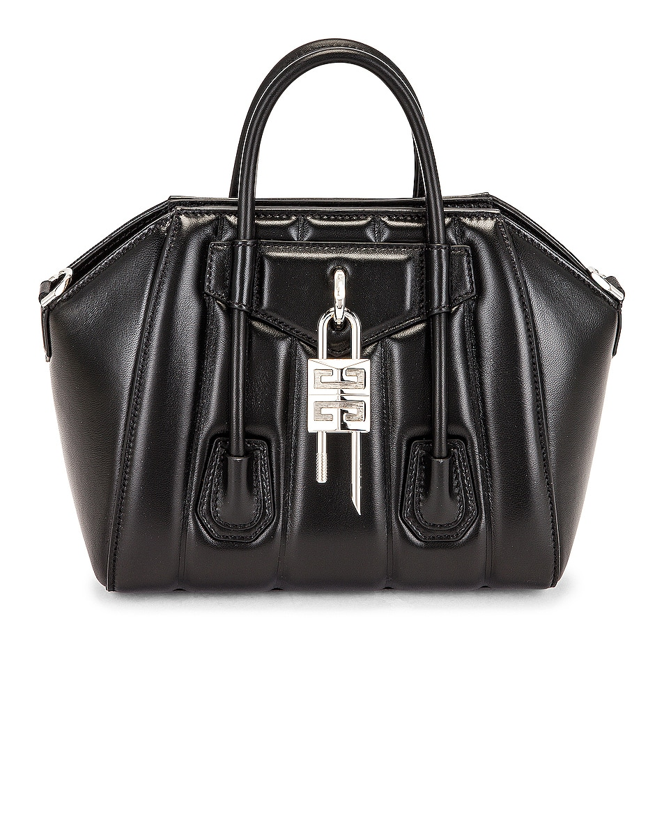 Image 1 of Givenchy Mini Antigona Lock Bag in Black