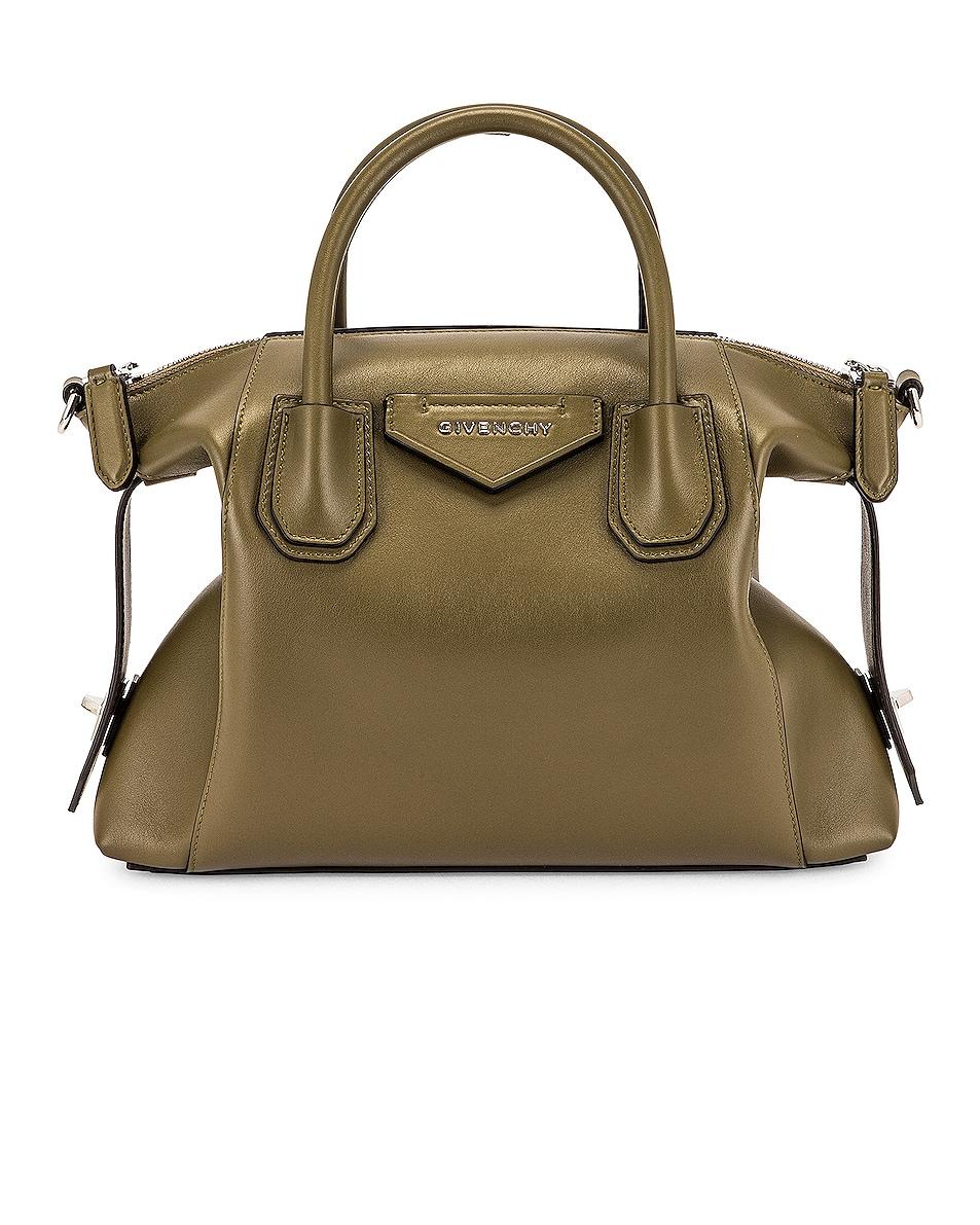 Image 1 of Givenchy Small Antigona Soft Bag in Dark Khaki