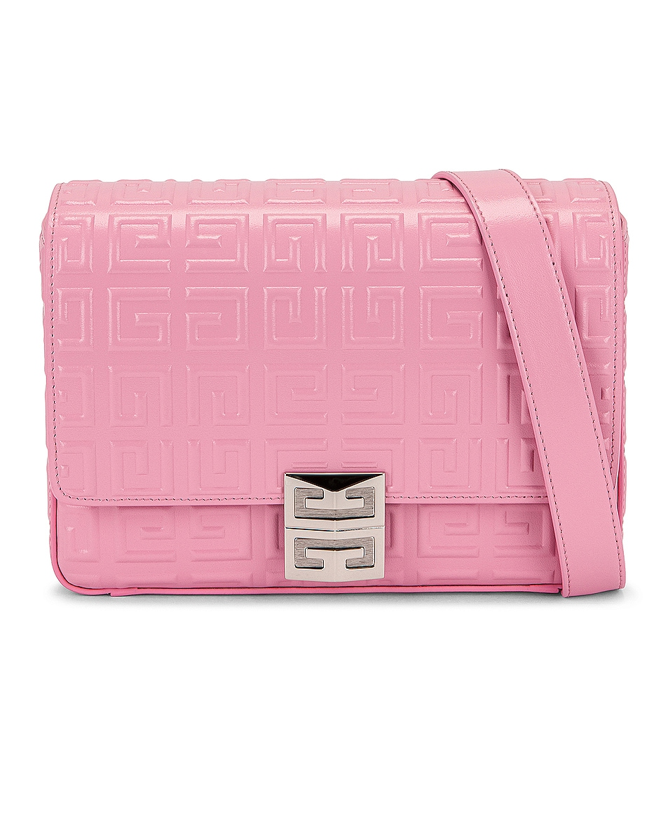 Image 1 of Givenchy Small 4G Crossbody Box Bag in Baby Pink