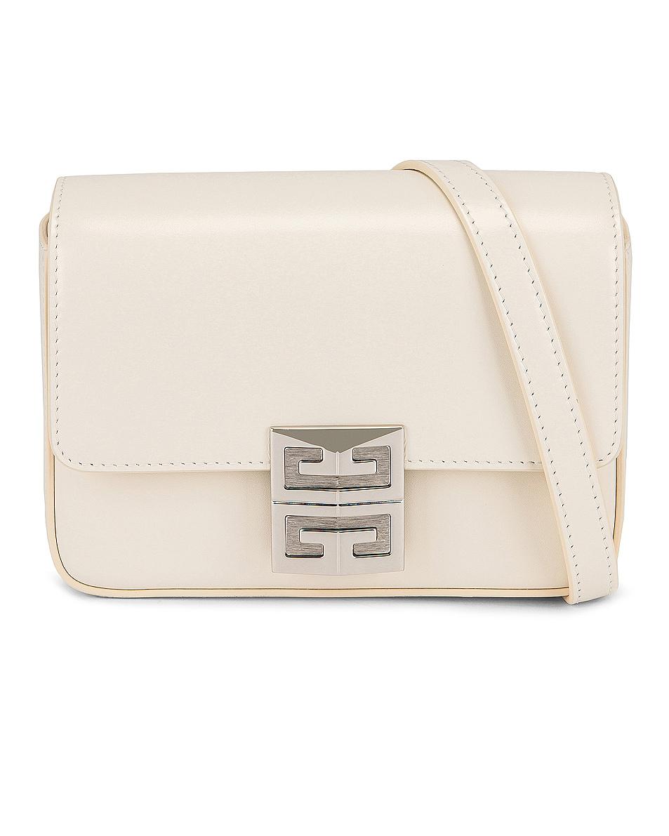 Image 1 of Givenchy Mini 4G Crossbody Box Bag in Ivory