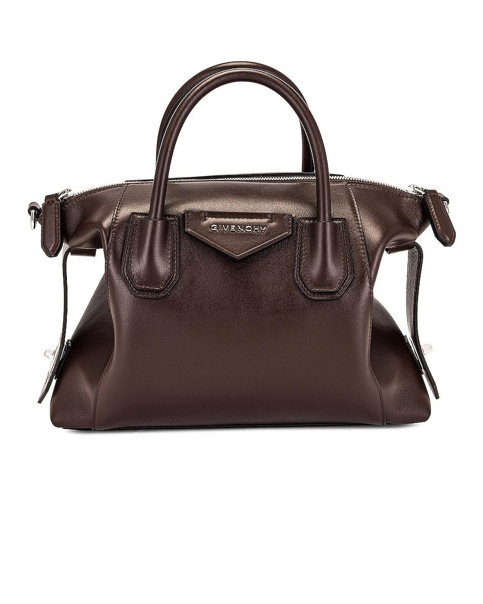 Image 1 of Givenchy Small Antigona Soft Bag in Chocolate