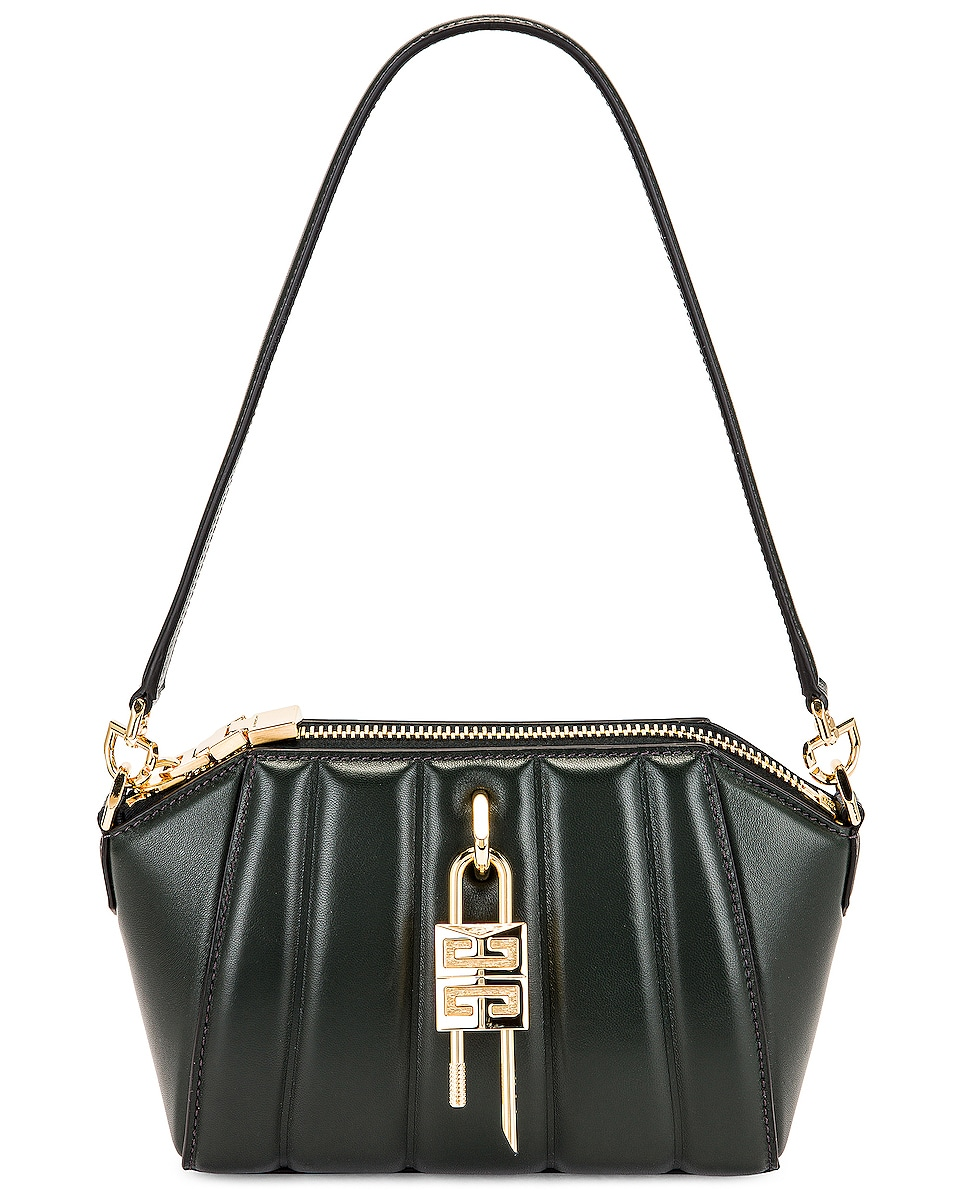Image 1 of Givenchy XS Antigona Lock Bag in Forest Green