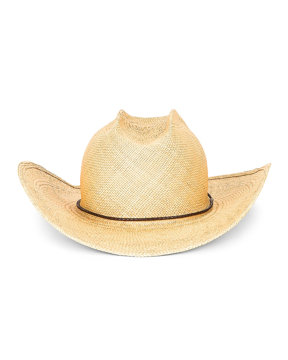 Image 1 of Gladys Tamez Millinery Levi Straw Hat in Ivory