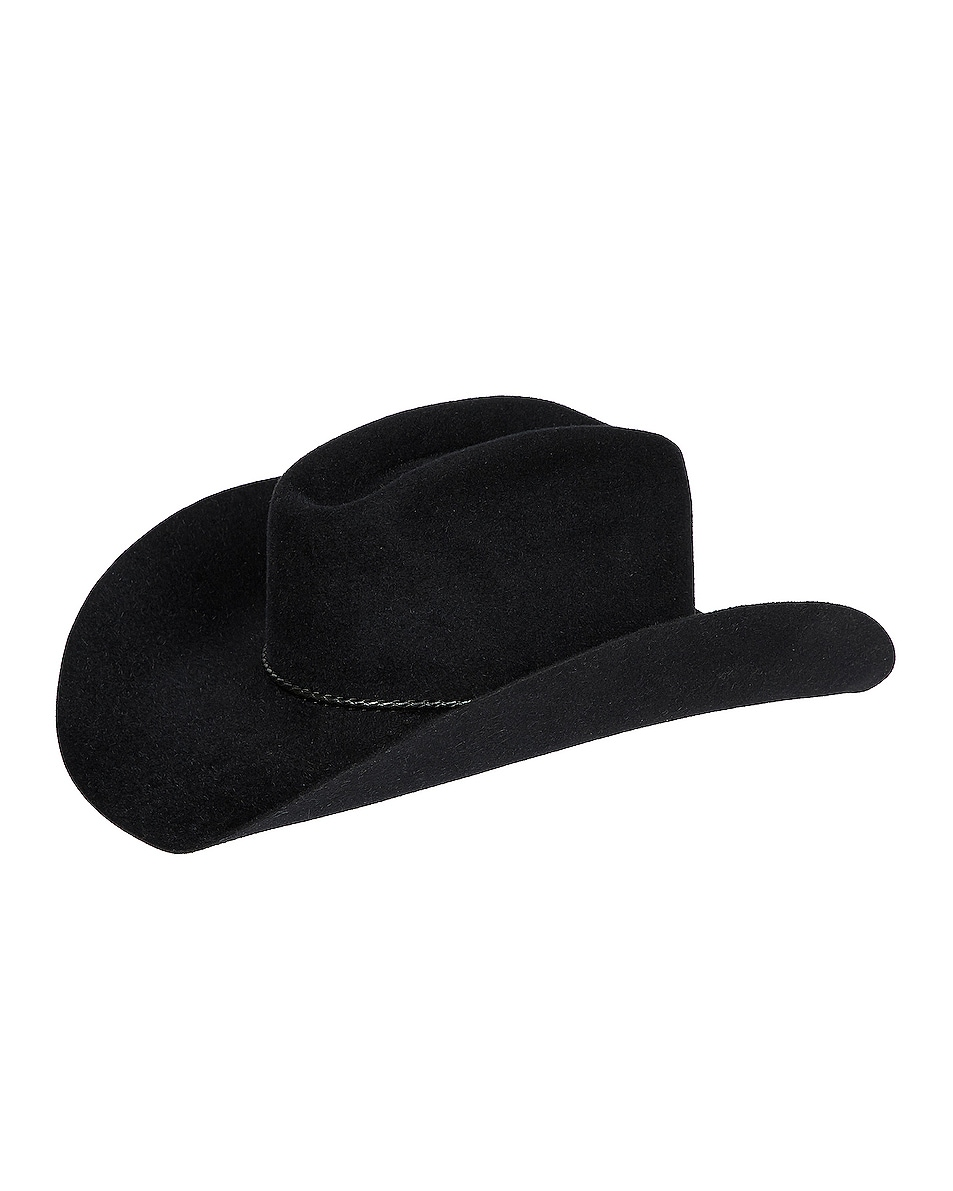 Image 1 of Gladys Tamez Millinery Levi Felt Velour Hat in Black