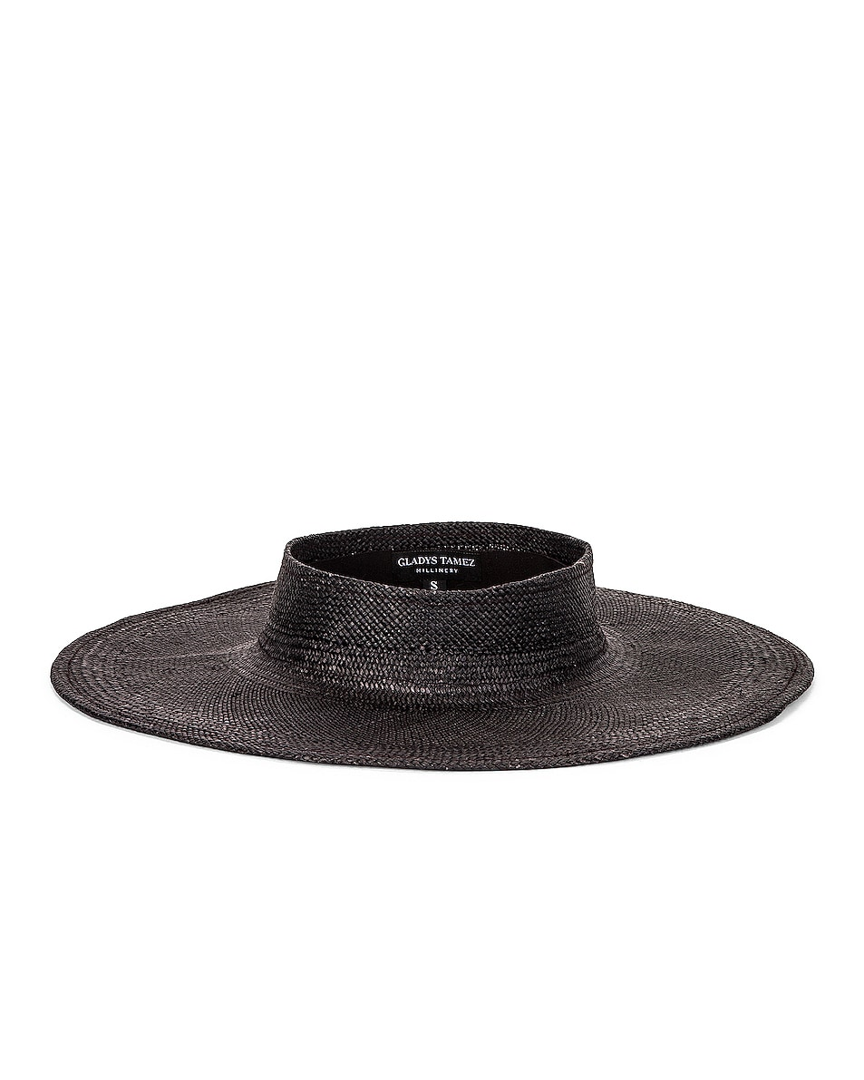 Image 1 of Gladys Tamez Millinery Beverly Hat in Black