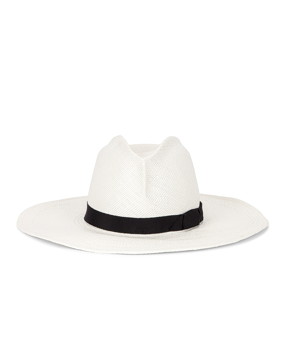 Image 1 of Gladys Tamez Millinery Jackie O Hat in White
