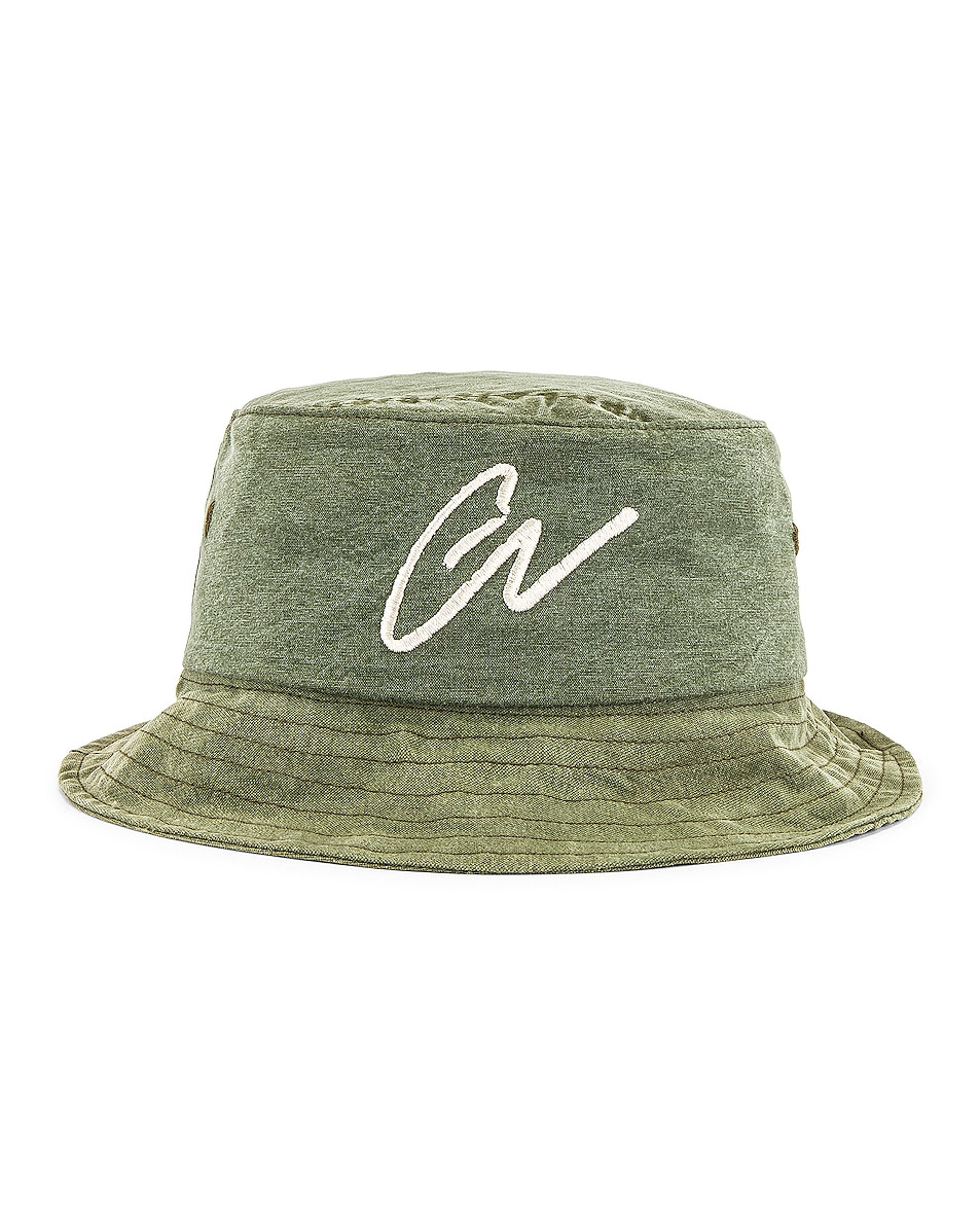 Image 1 of Greg Lauren GL Army Bucket Hat in Army