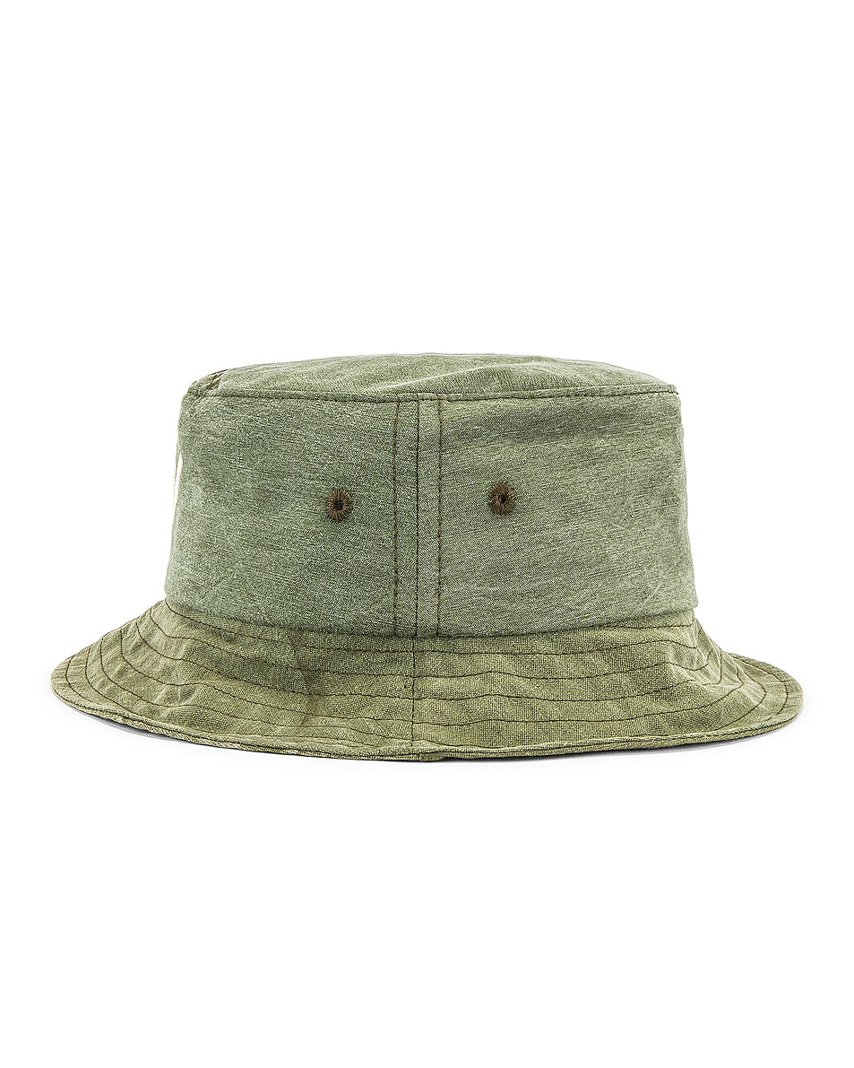 Image 3 of Greg Lauren GL Army Bucket Hat in Army