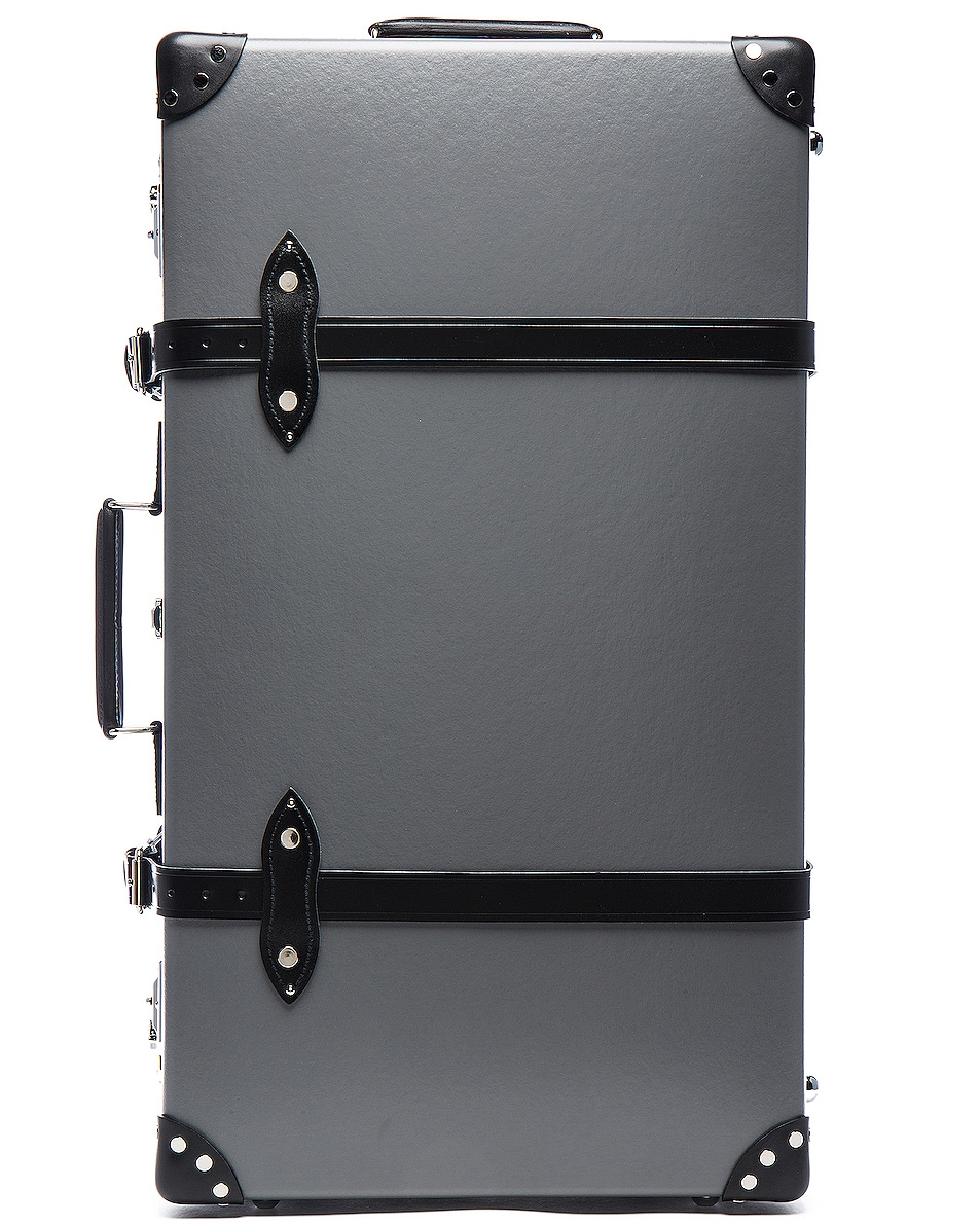 "Image 5 of Globe-Trotter 30"" Centenary Suitcase with Wheels in Grey & Black"