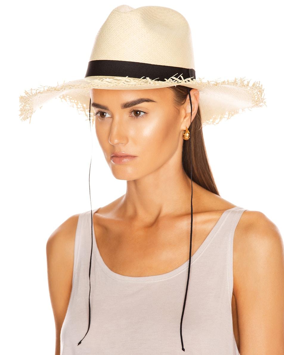 Image 2 of Greenpacha Montauk Hat in Natural & Black