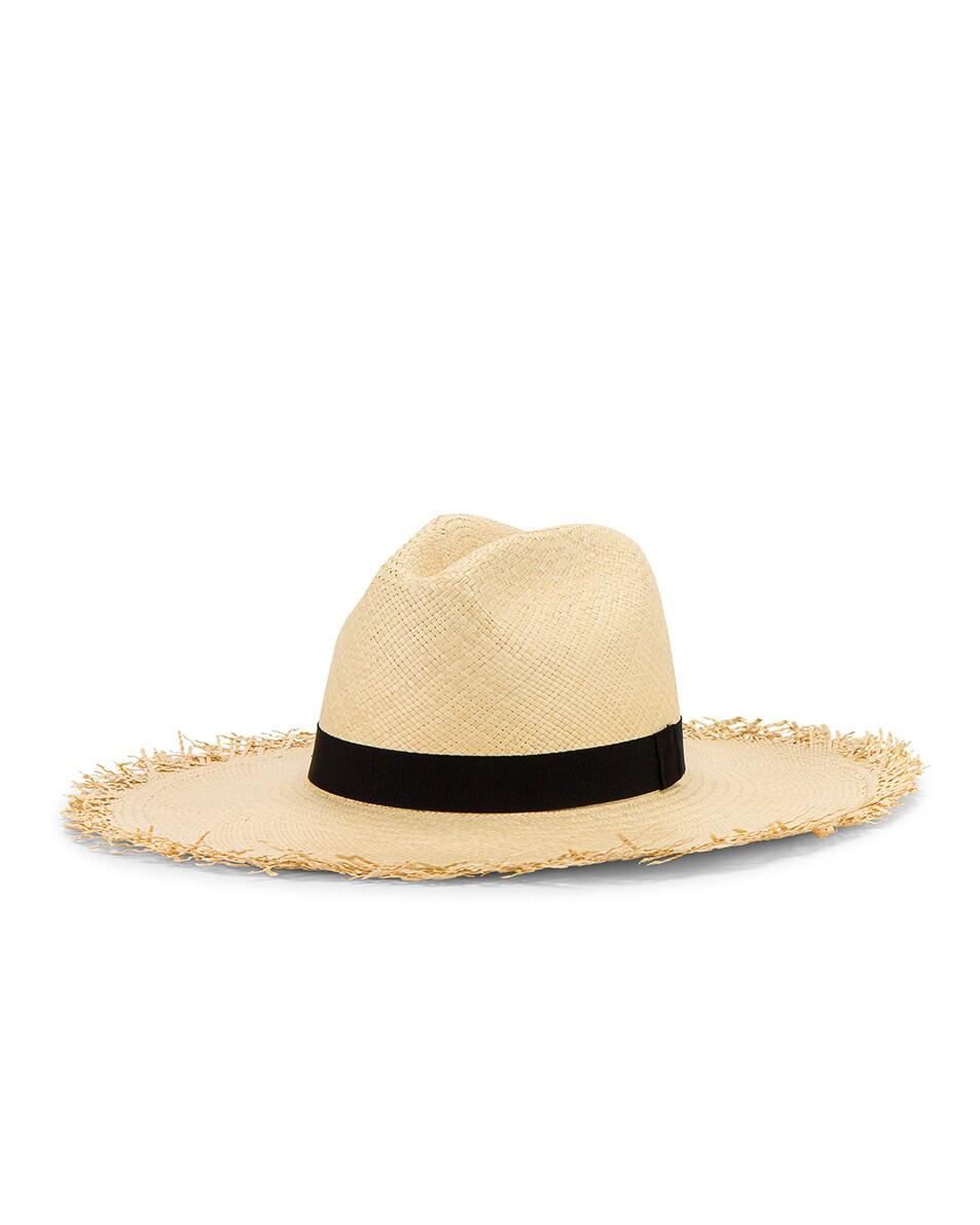 Image 3 of Greenpacha Montauk Hat in Natural & Black