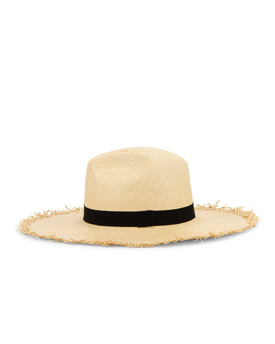 Image 4 of Greenpacha Montauk Hat in Natural & Black