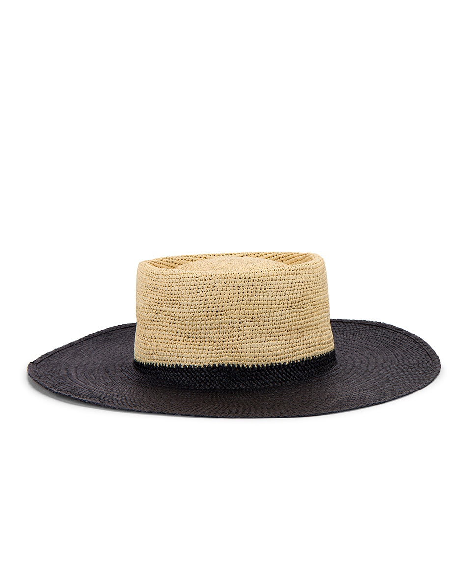 Image 1 of Greenpacha Solana Hat in Black & Natural