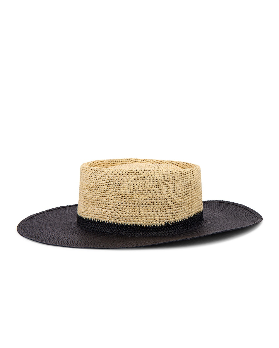 Image 4 of Greenpacha Solana Hat in Black & Natural