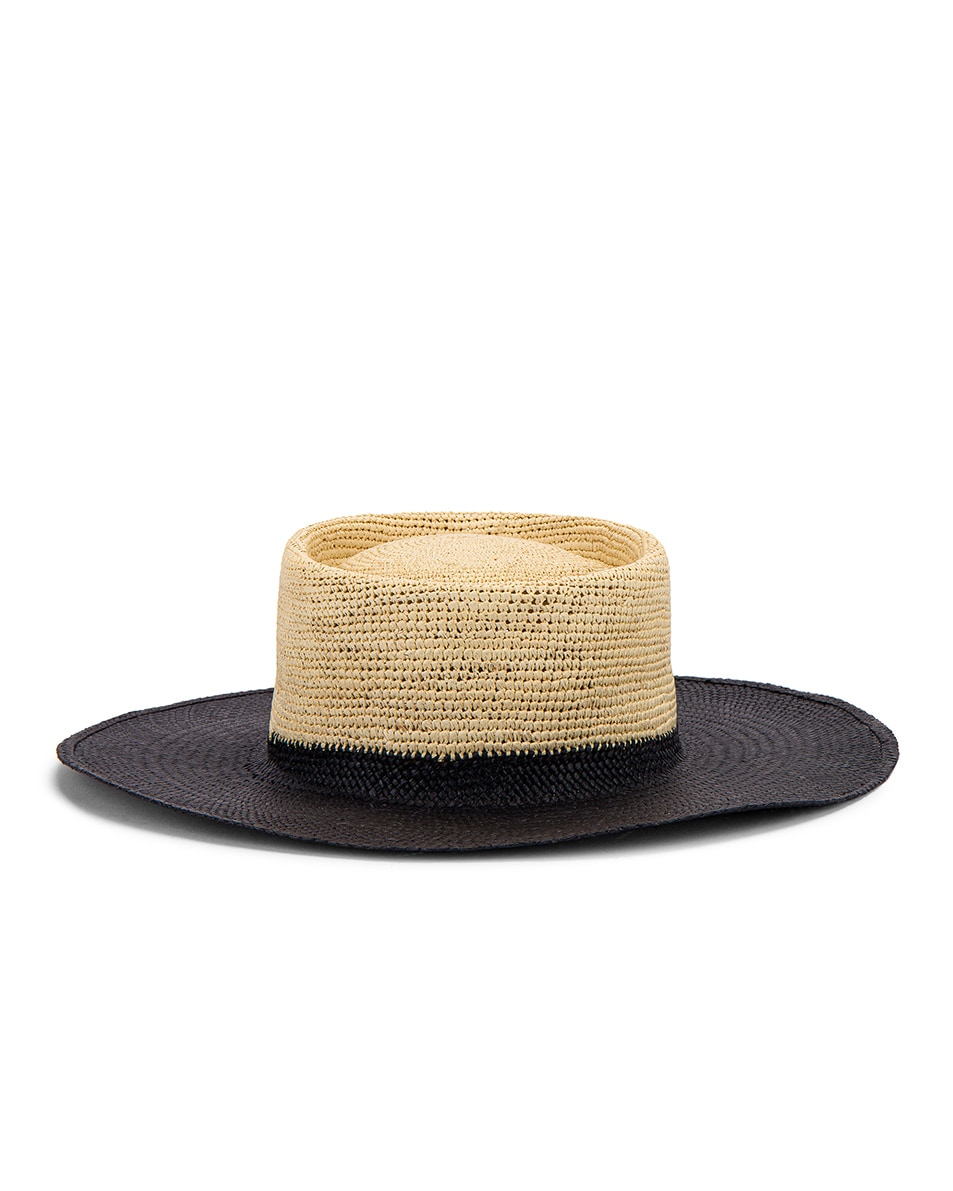 Image 5 of Greenpacha Solana Hat in Black & Natural