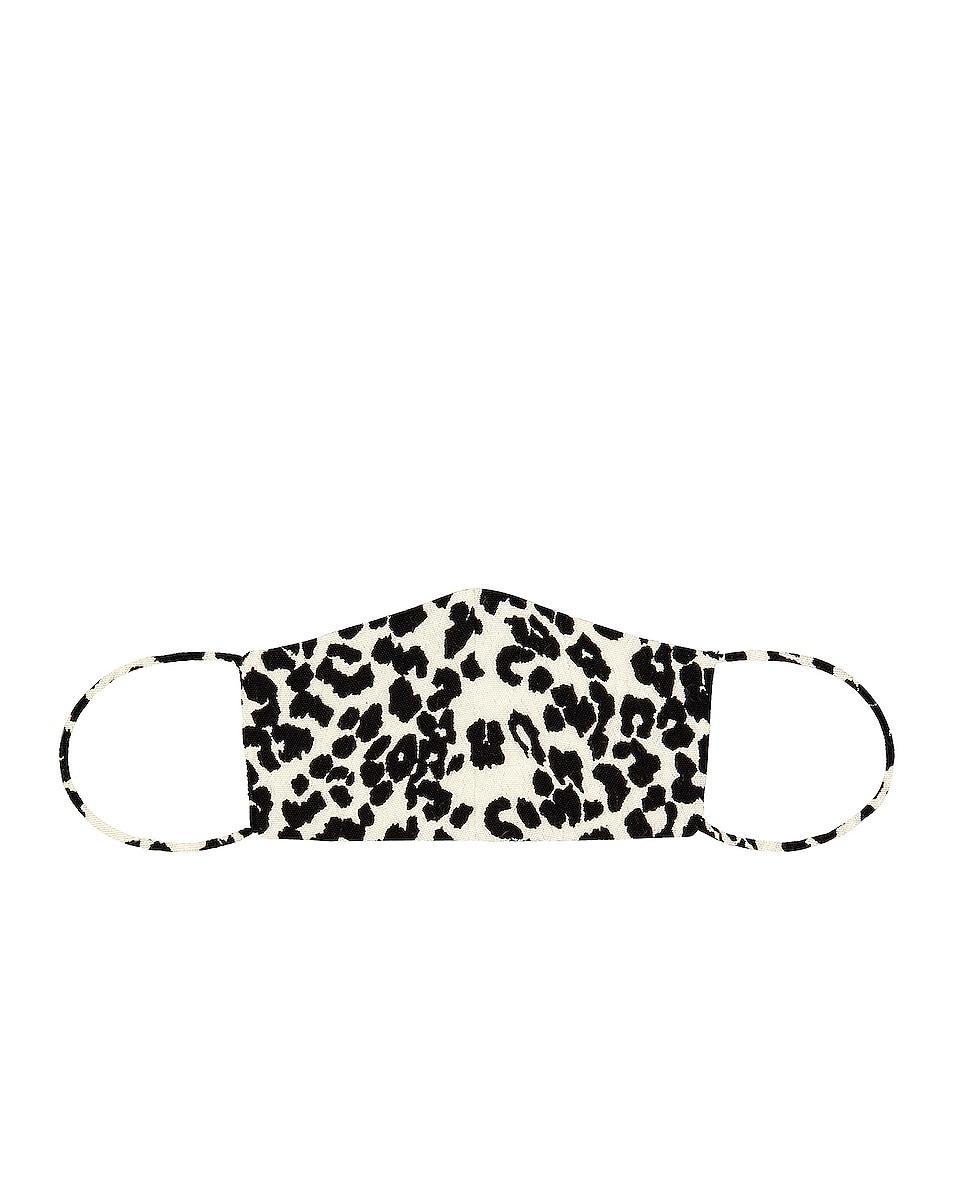 Image 1 of GRLFRND Face Mask in Ivory Leopard